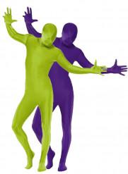 Second Skin Erwachsenenkostüm grün und lila