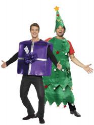 Weihnachtsbaum- und Weihnachtsgeschenk-Kostüm für Paare