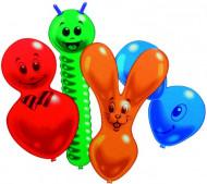 Niedliche Tier-Luftballons Partyballon-Set 10-teilig bunt