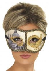 Venezianische Maske Venedig beige-gold