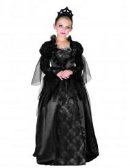 Barocke Vampirin Halloween-Kinderkostüm schwarz