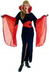 Spinnen-Vampirin Halloween-Damenkostüm schwarz-orange