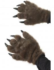 Haarige Monster-Handschuhe braun