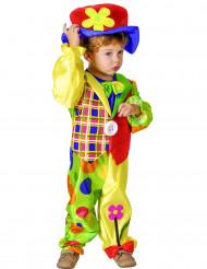 Kleiner Clown Kinderkostüm Zirkus bunt