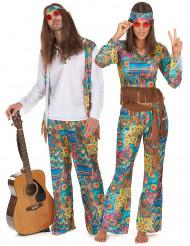 Hippie-Paar-Kostüm für Erwachsene, bunt