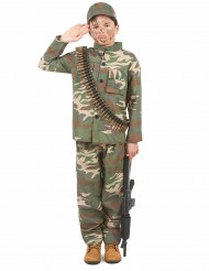 Tapferer Soldat Kinderkostüm camouflage