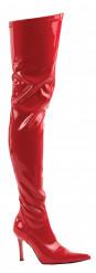 Lange Damenstiefel Kostümaccessoire rot