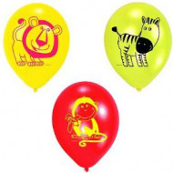 Luftballons Safari Kindergeburtstag-Deko 6 Stück rot-gelb 70cm