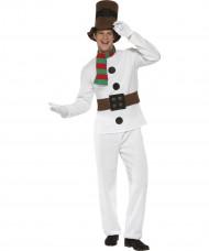 Schneemann Kostüm Weihnachten weiss-braun