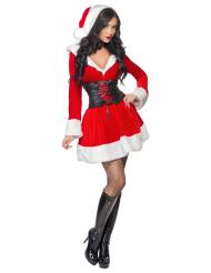 Heisse Weihnachtsfrau Damenkostüm Weihnachten rot-weiss