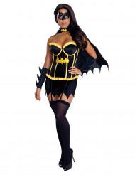Verführerisches Batgirl-Damenkostüm schwarz-gelb