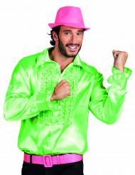 70er Jahre Disco Herrenhemd grün
