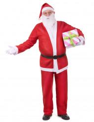 Edles Weihnachtsmann Kostüm rot-weiss
