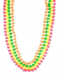 80er Jahre Neon Perlenketten 4 Stück bunt