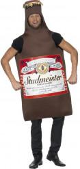 Bierflasche Kostüm braun-rot-weiss