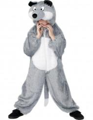 Wolf Kinder-Kostüm grau