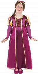 Edeldame Kinder-Kostüm gold-violett