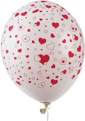 Luftballons in Herzform 50 Stück rot