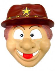 Cowboy-Maske Kindermaske hautfarben-braun