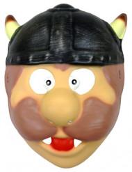 Wikinger-Maske Kinder hautfarben-bunt