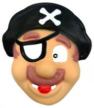 Lustige Piraten Kinder-Maske bunt