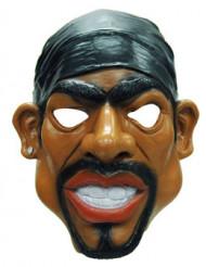 Rappermaske für Erwachsene braun-schwarz