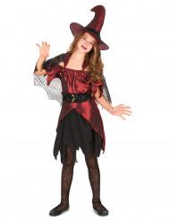Elegante Zauber-Hexe Kinderkostüm dunkelrot-schwarz