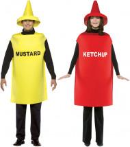Paar-Verkleidung: Senf und Ketchup - gelb/rot
