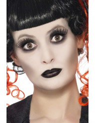 Gothic Make-Up-Set Halloween weiss-schwarz 9g