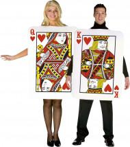 Dame und König - Spielkarten-Paar-Kostüm für Erwachsene
