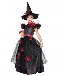 Kleine Hexe Mädchen Kostüm schwarz-rot