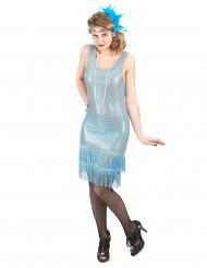 20er-Jahre Charleston Damenkostüm blau