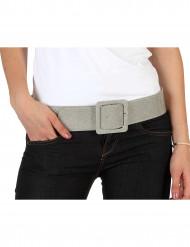 Glitzer-Gürtel Disco-Accessoire silber