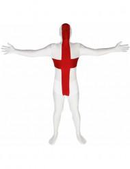 Morphsuit England Fanartikel rot-weiss