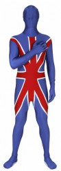 Morphsuit Union Jack Fanartikel Grossbritannien blau-weiss-rot