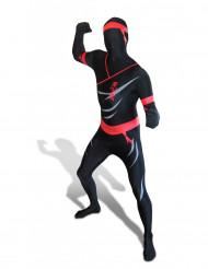 Morphsuit Ninja Ganzkörperanzug schwarz-rot
