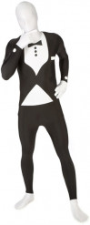 Morphsuit Tuxedo Anzug schwarz-weiss