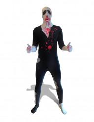 Morphsuit Zombie Halloween schwarz-rot-weiss