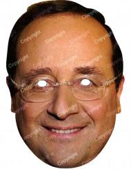 François Hollande Maske Pappkarton Politikermaske