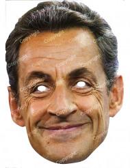 Nicolas Sarkozy Maske Pappkarton Politikermaske