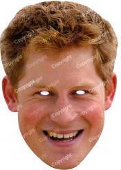 Prinz Harry Maske Pappkarton 29,5 x 20,5 cm