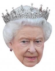Queen Elizabeth Maske Pappkarton 40 x 28 cm