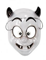 Fröhliche Monster Kindermaske weiss-schwarz