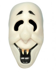 Lustige Vampirmaske Halloween-Maske weiss-schwarz