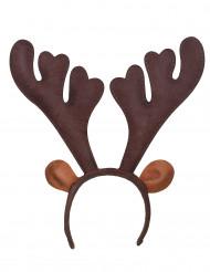 Rentier-Haarreif Geweih Weihnachtskostüm-Accessoire braun