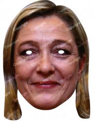 Marine Le Pen Maske Pappkarton
