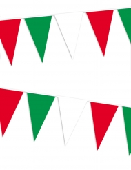 Wimpel-Girlande Italien Party-Deko rot-weiss-grün 400x26cm