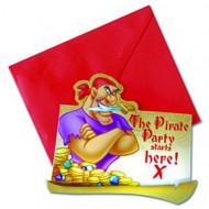 Disney Pirates™ Einladungskarten 6 Stück Lizenzware