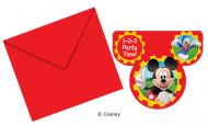 Disney™ Mickey Mouse Clubhouse™ Einladungskarten 6 Stück Lizenzware