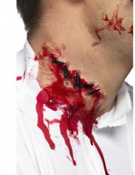 Halloween Horror Latex Applikation Grobe Naht hautfarben 10cm